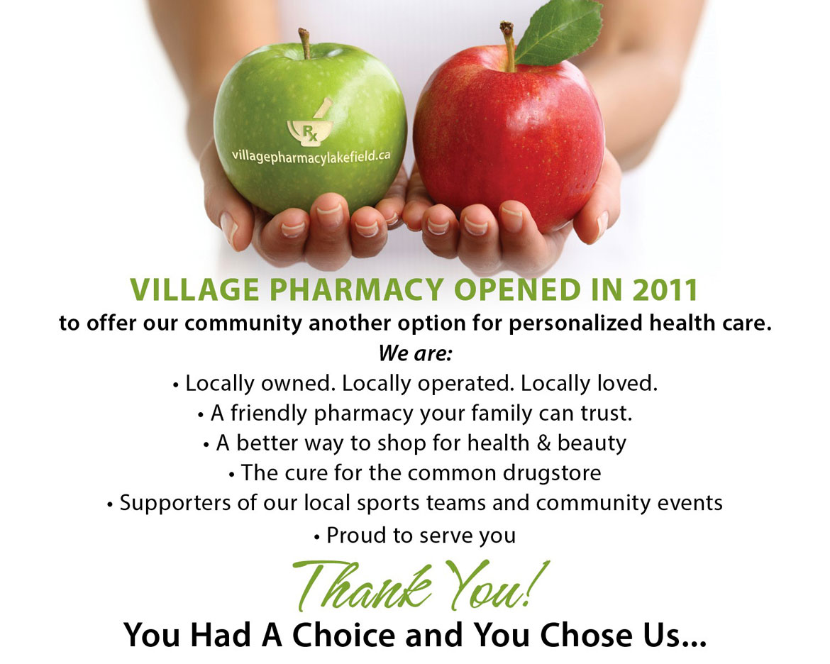 Village Pharmacy Lakefield - Thank You